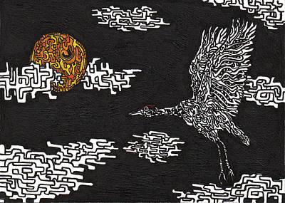 Tsuru Drawing - Tsuru by Daisuke Okamoto