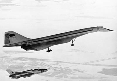 Passenger Plane Photograph - Tu-144, The First Supersonic Jet , 1969 by Ria Novosti