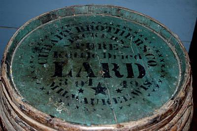 Barrel Photograph - Tub Of Lard by LeeAnn McLaneGoetz McLaneGoetzStudioLLCcom