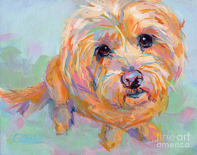 Labradoodle Painting - Tucker by Kimberly Santini
