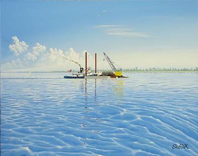 Tug Barge Off Park Point Original by Dan Shefchik