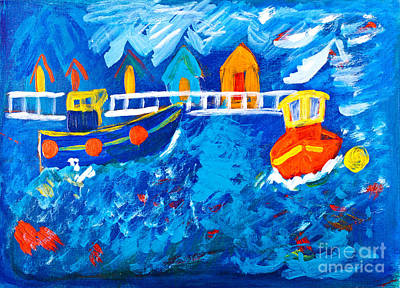 Tug Boat Painting - Tug Boats At Sea by Simon Bratt Photography LRPS