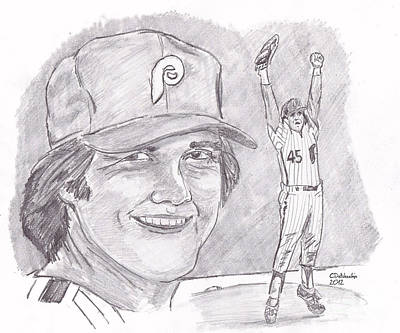 Tug Mcgraw Art Print by Chris  DelVecchio