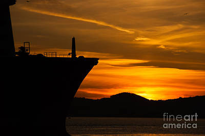 Photograph - Tugboat On San Francisco Bay At Dusk by Harry Strharsky