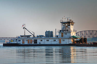 Tugboat On The Ohio I Art Print by Steven Ainsworth