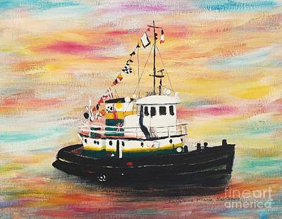 Painting - Tugboat  by Suzanne  Marie Leclair