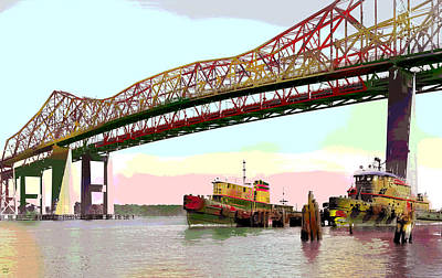 Tugboats Mcallister Art Print by Charles Shoup