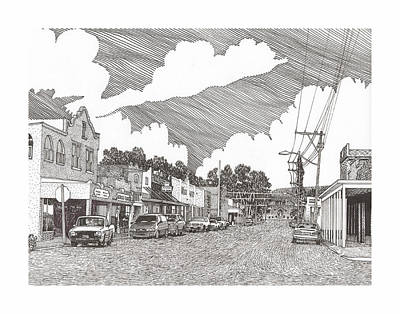 Tularosa Nm Main Street Print by Jack Pumphrey