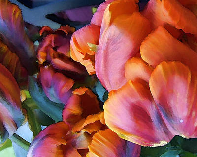 Parrot Digital Art - Tulip 01 by Ann Bridges