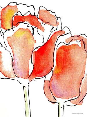 Painting - Tulip-abstract-paintings-1 by Gordon Punt