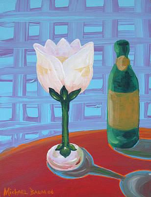 Tulip Champagne Art Print by Michael Baum