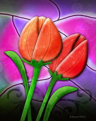 Digital Art - Tulip Glass by Melisa Meyers