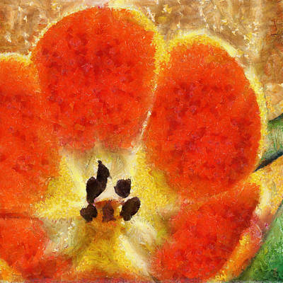 Painting - Tulip In Bloom by Jai Johnson