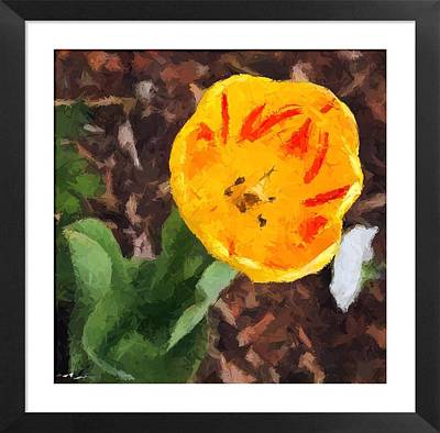 Mixed Media - Tulip In Oil by Lauren MacIntosh