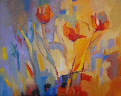 Painting - Tulip Song by Marty Husted