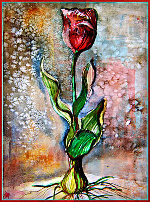 Spring Bulbs Painting - Tulip Sparkle by Mindy Newman