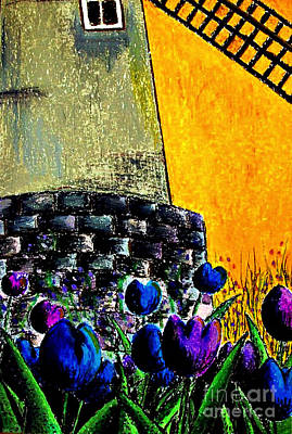 Tulips By The Mill Art Print by Aisa  Mijeno