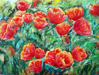 Tulips Expression Art Print