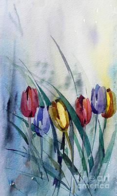 Watercolor Painting - Tulips by Natalia Eremeyeva Duarte
