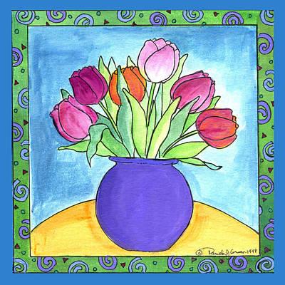 Corwin Painting - Tulips by Pamela  Corwin