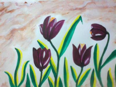 Painting - Tulips by Seema Sharma
