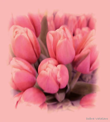 Tulips Splash Art Print by Debra     Vatalaro