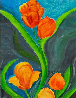 Tulips Print by Tatyana Seamon
