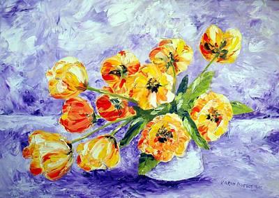 Karin Mueller Painting - Tulpenrausch  by Karin Mueller