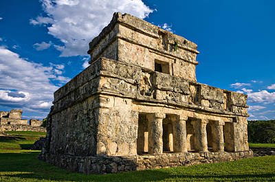 Mayan Photograph - Tulum Temple by Meirion Matthias