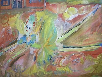 Tumbleweed Painting - Tumbleweed Fairy by Judith Desrosiers