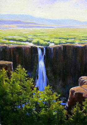 Tumbling Falls Co Art Print by Vickie Fears