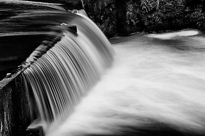 Art Print featuring the photograph Tumwater Falls In Bw by Joe Urbz