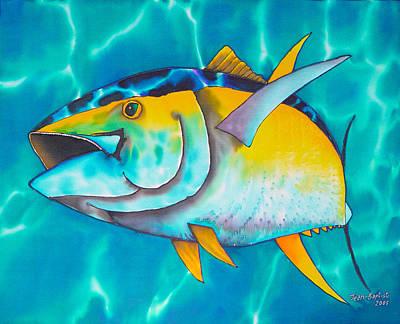 Tuna Postcard Painting - Tuna by Daniel Jean-Baptiste