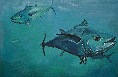 Tuna School Art Print by Terry Gill