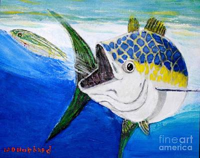 Painting - Tuna To The Fly by Bill Hubbard
