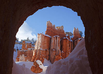 Art Print featuring the photograph Tunnel In The Rock by Susan Rovira