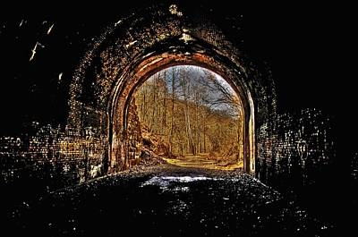 Tunnel Of Gold Art Print by Shirley Tinkham