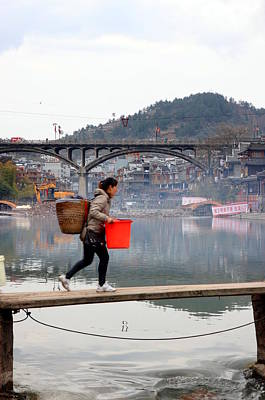 Photograph - Tuojiang River In Fenghuang by Valentino Visentini