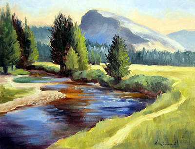 Yosemite Painting - Tuolomne Meadows by Karin  Leonard