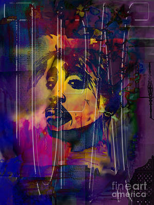 Mayfield Mixed Media - Tupac by Christine Mayfield