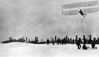Tupolev And His Glider, 1910 Art Print