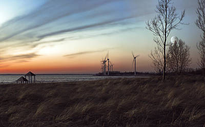 Water Buffalo Wall Art - Photograph - Turbine Sundown by Peter Chilelli