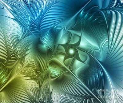 Fading Digital Art - Turbulence by Jutta Maria Pusl