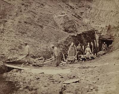 Turkestani Workers Hauling Coal From An Art Print by Everett
