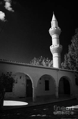 Turkish Cypriot Mosque In Mixed Divided Pyla Village Republic Of Cyprus Print by Joe Fox