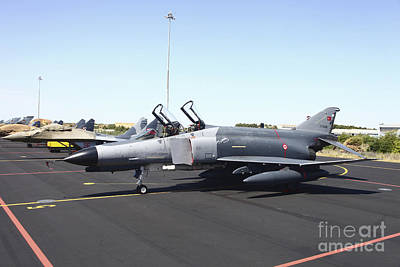 Turkish F-4e Phantom And Polish Mig-29s Art Print