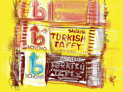 Banana Mixed Media - Turkish Taffy by Russell Pierce