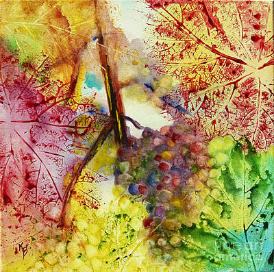 Painting - Turning Leaves by Karen Fleschler