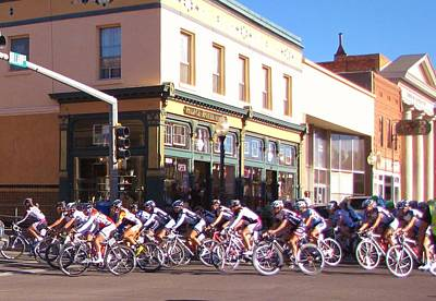 Tour Of The Gila Photograph - Turning Up Broadway by Feva  Fotos