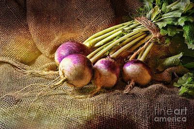 Textured Photograph - Turnips by Sari Sauls